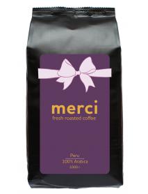 Кофe арабика Merci Peru 1000 г в зернах свежей обжарки