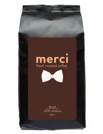 Кофe арабика Merci Brazil 500 г в зернах свежей обжарки