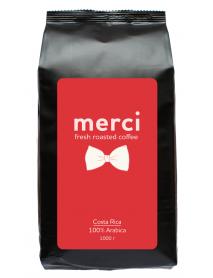 Кофe арабика Merci Costa Rica 1000 г в зернах свежей обжарки