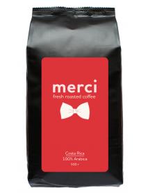 Кофe арабика Merci Costa Rica 500 г в зернах свежей обжарки