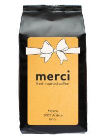 Кофe арабика Merci Mexico 1000 г в зернах свежей обжарки