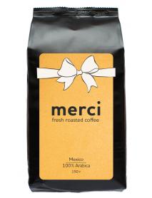 Кофe арабика Merci Mexico 150 г в зернах свежей обжарки