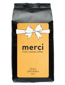 Кофe арабика Merci Mexico 500 г в зернах свежей обжарки