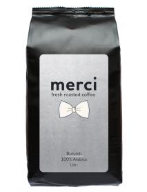 Кофe арабика Merci Burundi 150 г в зернах свежей обжарки